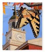 Emergence Of The Butterfly Fleece Blanket