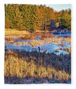 Emerging Marsh Fleece Blanket