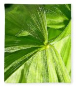 Emerging Plants Fleece Blanket