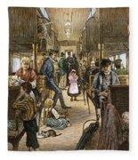 Emigrant Coach Car, 1886 Fleece Blanket