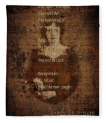 Emily Dickinson 4 Fleece Blanket