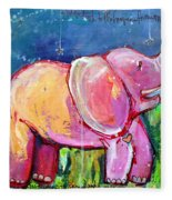 Emily's Elephant 2 Fleece Blanket