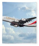 Emirates A380-800 A6-eer Fleece Blanket