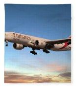 Emirates Boeing 777f A6-efm Fleece Blanket