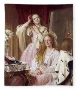 Emma And Federica Bankes Of Soughton Hall  Fleece Blanket