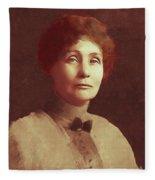Emmeline Pankhurst, Suffragette Fleece Blanket