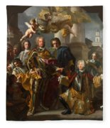Emperor Charles Vi And Gundacker, Count Althann Fleece Blanket