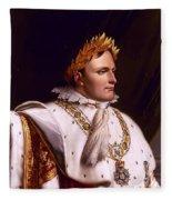 Emperor Napoleon Bonaparte  Fleece Blanket