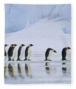 Emperor Penguins Fleece Blanket