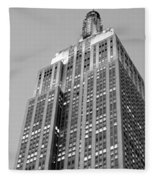 Empire State Building B W Fleece Blanket
