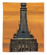 Empire State Building Esb Broadcasting Nyc Fleece Blanket