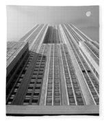 Empire State Building Fleece Blanket