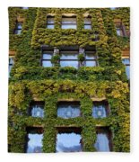 Empress Hotel Windows Fleece Blanket
