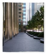 Empty Chicago Sidewalk Fleece Blanket