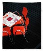 Empty Coffee Table Fleece Blanket