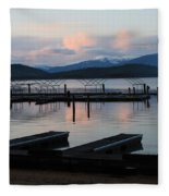 Empty Docks On Priest Lake Fleece Blanket