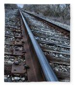 Empty Railroad Tracks Fleece Blanket