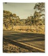 Empty Regional Australia Road Fleece Blanket