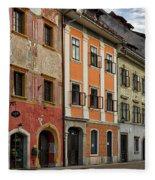 Empty Street In Slovenia Fleece Blanket