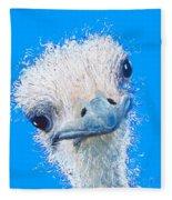 Emu Painting Fleece Blanket