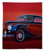 Emw Bmw 1951 Painting Fleece Blanket