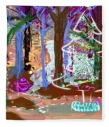 Enchanted Christmas Forest Fleece Blanket