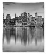Enchanted City Fleece Blanket by Az Jackson