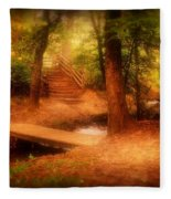 Enchanted Path - Allaire State Park Fleece Blanket