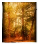 Enchanted Path 2 - Allaire State Park Fleece Blanket