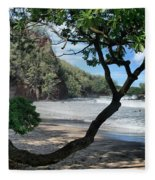 Enchanted Rocks Koki Beach Haneoo Hana Maui Hawaii Fleece Blanket