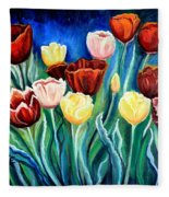 Enchanted Tulips Fleece Blanket
