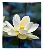 Enchanting Lotus Fleece Blanket