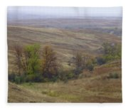 Enchantment Of The September Grasslands Fleece Blanket