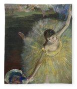 End Of An Arabesque Fleece Blanket by Edgar Degas