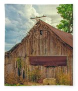 End Of An Era In Sailor Springs Illinois Fleece Blanket