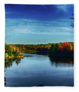 End Of The Day At The Lake Fleece Blanket