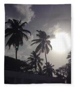 End Of The Day In The Islands Fleece Blanket