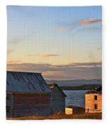 End Of The Day In Trinity Bay, Newfoundland Fleece Blanket