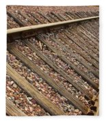 End Of The Tracks Fleece Blanket