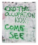 End The Occupation Now Fleece Blanket