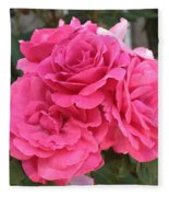 Energizing Pink Roses Fleece Blanket