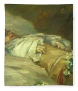 Enfant Mort Detail 1881 Fleece Blanket