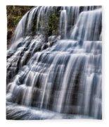 Lower Falls #4 Fleece Blanket