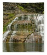 Enfield Falls Tompkins County New York Fleece Blanket