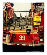 Engine 39 - New York City Fire Truck Fleece Blanket