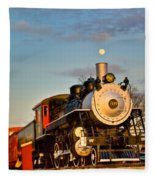 Engine 509 At Crossville Tennessee Puffing Fleece Blanket