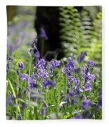 English Bluebell Wood Fleece Blanket