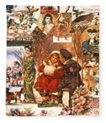 English Christmas Cards Fleece Blanket