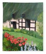 English Cottage Fleece Blanket