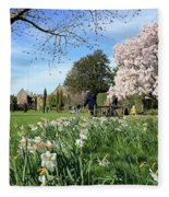 English Country Garden Fleece Blanket